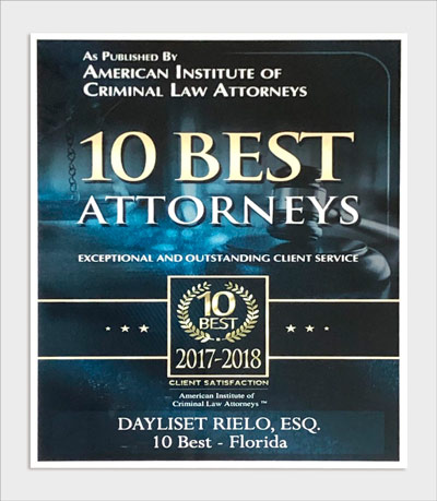 10 Best Attorneys 2018 Dayliset Rielo